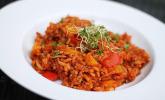 Reis-Hackfleisch-Pfanne mit Paprika