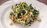Reispfanne mit Spinat