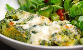 Vegetarisches, leichtes Kartoffel-Spinat-Gratin