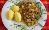Würzige Zucchini - Hackfleisch - Pfanne