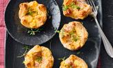 Zweierlei gefüllte Quiche-Blätterteig-Muffins