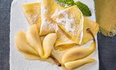 Crêpes mit heißen Birnen