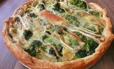 Blätterteig-Quiche mit Brokkoli und Camembert