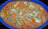 Gemüse-Auflauf mit Karotten und Zucchini