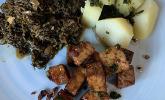 Grünkohl asiatisch mit Koriander-Tempeh