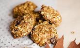 Kürbis Chocolate Chip Haferflocken Cookies