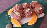 Kürbis-Orangen-Walnuss-Muffins