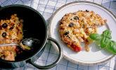 Polenta-Gratin vegetarisch