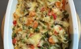 Schneller Maultaschen-Gemüseauflauf