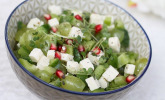 Trauben-Paprika-Salat mit Schafskäse