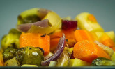 Winter-Gemüse aus dem Backofen
