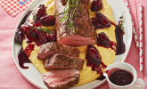Rinderfilet auf Rotwein-Schalotten-Butter