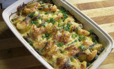 Garnelen-Kartoffel-Gratin