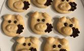 Glücksschweinchen aus Quark-Öl-Teig