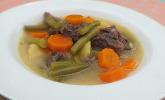Grüne Bohnensuppe mit Rindfleisch