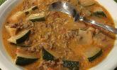 Käse-Hack-Suppe mit Zucchini