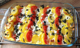 Kartoffel-Tomaten Mozzarella-Gratin
