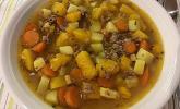 Kürbis-Hack Suppe