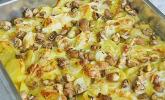 Schnelles saftiges Kartoffel-Pilz-Gratin