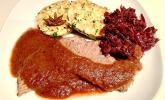 Winterlicher Rotwein-Rinderschmorbraten mit Pflaumensauce
