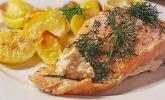 Würzlachs mit Meerrettich-Kartoffelgratin