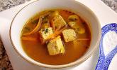 Misosuppe mit Gemüse und Tofu
