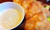 Vegane Samosas mit Minz-Dip