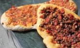 Vegane türkische Pizza - Sebzeli lahmacun