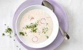 Radieschensuppe mit Frischkäse und Kresse