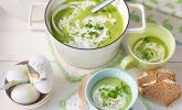 Grüne Erbsensuppe