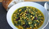 Arabische Kichererbsen-Spinat Suppe