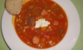 Bohnensuppe feurig scharf
