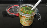 Frühlingssuppe im Glas / Suppe fürs Büro