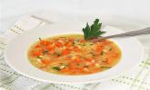 Gelbrüben-Reis-Suppe