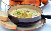 Hackfleisch-Lauch-Suppe