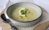 Italienische weiße Reissuppe
