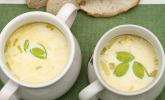 Käse-Lauch-Suppe mit zwei Sorten Käse