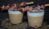 Latte Macchiato von der Schwarzwurzel mit Sellerichips