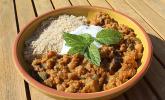 Marokkanischer Gemüseeintopf mit Kichererbsen und roten Linsen