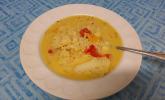 Reis-Kokosmilch-Suppe mit Blumenkohl und Paprika