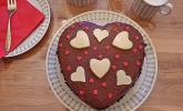 Rotweinkuchen für die Herzform