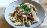 Tofu-Geschnetzeltes mit Champignons