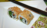 California Rolls inside-out
