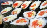 Dicke Sushi-Rollen