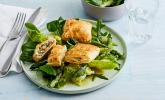Blätterteigtäschchen mit Spargel-Prosciutto-Mascarpone-Füllung