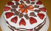 Erdbeer-Crunch-Torte