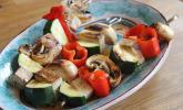Gemüse-Tofu-Spießchen für den Grill