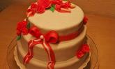 Hochzeitstorte - schokoladige Hochzeitstorte mit Fondantüberzug