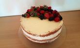 Naked Cake Beerentorte