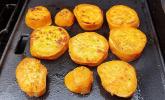 Pikante Süßkartoffelscheiben vom Grill